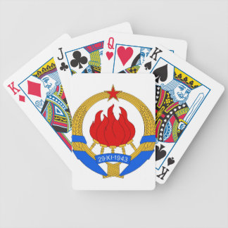 Baralhos De Pôquer República federal socialista do emblema de