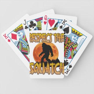 Baralhos De Pôquer Respeite o Squatch