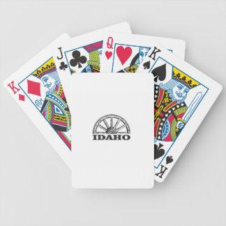 Baralhos De Pôquer Roda de vagão de Idaho