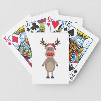 Baralhos De Pôquer Rudolf o design bonito do Natal da rena