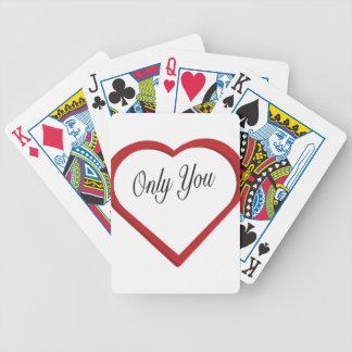Baralhos De Pôquer Somente você