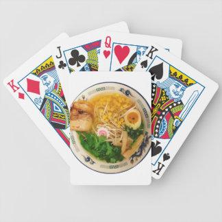 Baralhos De Pôquer Sopa de macarronete dos Ramen da carne de porco