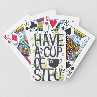 Baralhos De Pôquer Tenha um copo de STU