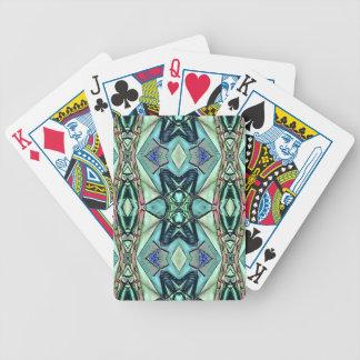Baralhos De Pôquer Teste padrão artístico do pêssego moderno do Lilac