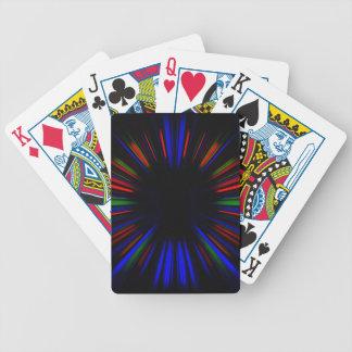 Baralhos De Pôquer Teste padrão azul e vermelho do starburst