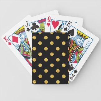 Baralhos De Pôquer Teste padrão de bolinhas elegante da folha do