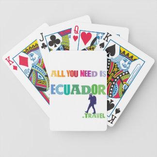 Baralhos De Pôquer Tudo que você precisa é Ecuador_Travel