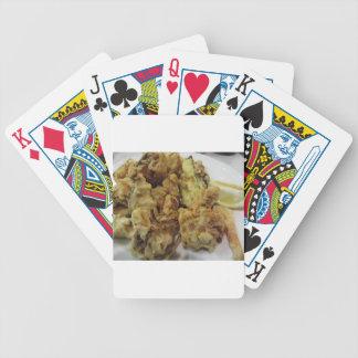 Baralhos De Pôquer Vegetais crocantes panados e fritados com limão