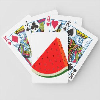 Baralhos De Pôquer Verão da fatia da colheita da fruta da melancia