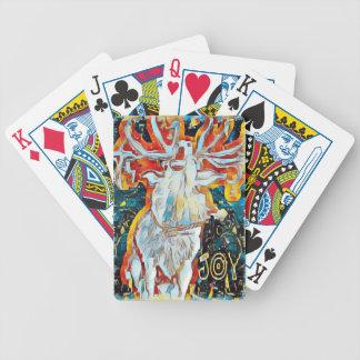 Baralhos Para Poker A alegria decorou cervos de Caroling