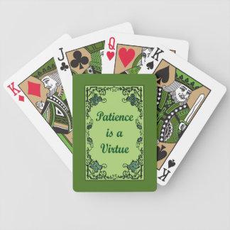 Baralhos Para Poker A paciência é uma virtude