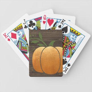 Baralhos Para Poker Abóbora de madeira rústica do outono do ouro