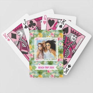 Baralhos Para Poker Adicione seus flores & abacaxis | tropicais