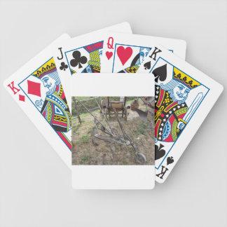 Baralhos Para Poker Arado velho do ferro e outras ferramentas