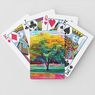 Baralhos Para Poker Árvore do outono em cores vívidas