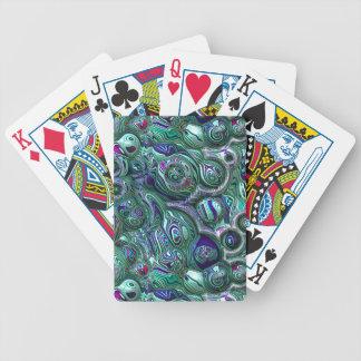 Baralhos Para Poker Borrão colorido do abstrato 3D