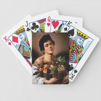 Baralhos Para Poker Caravaggio - menino com uma cesta de trabalhos de