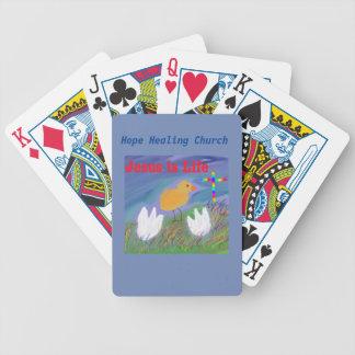 Baralhos Para Poker Cartões de jogo cristãos de Jesus da igreja cura