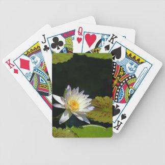 Baralhos Para Poker Cartões de jogo das almofadas de Lotus branco