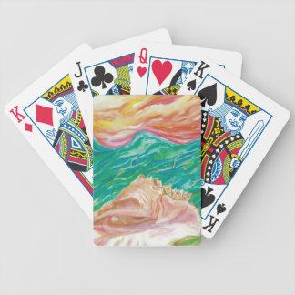 Baralhos Para Poker Cartões de jogo do desenhista do Seashell