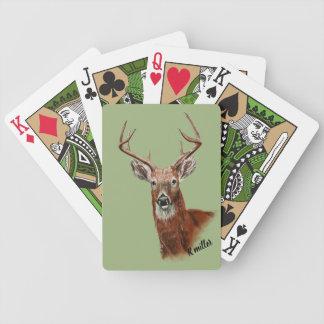 Baralhos Para Poker Cartões de jogo do desenho dos cervos