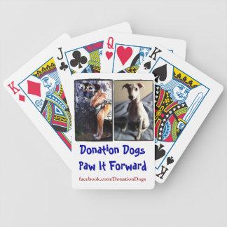 Baralhos Para Poker Cartões de jogo dos cães da doação