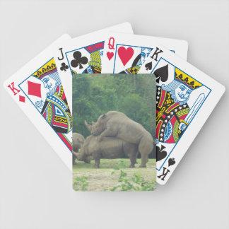 Baralhos Para Poker Cartões de jogo dos Rhinos de Randy