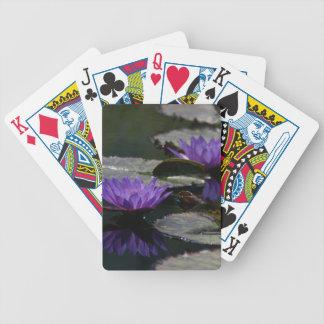 Baralhos Para Poker Cartões de jogo roxos de Lotus Waterlilies