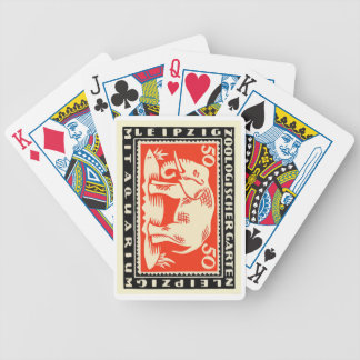 Baralhos Para Poker Cédula 1919 de Notgeld do jardim zoológico de