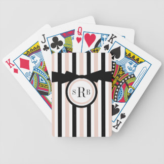 BARALHOS PARA POKER CHIQUE QUE JOGA CARDS_BLACK/LISTRAS BRANCAS/ROSAS
