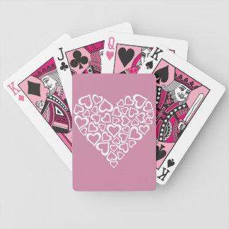 Baralhos Para Poker Coração branco dos corações