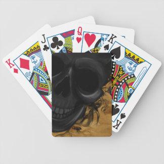 Baralhos Para Poker Crânio de sorriso preto cercado por bastões e por