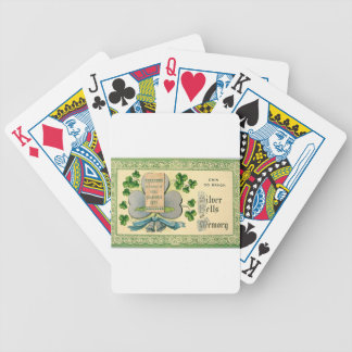 Baralhos Para Poker Desenhar irlandês do vintage original do Dia de
