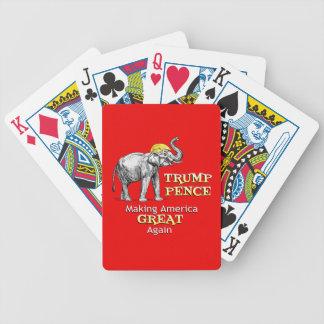 Baralhos Para Poker Elefante das moedas de um centavo do trunfo que