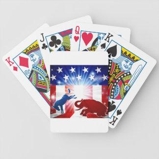 Baralhos Para Poker Elefante de combate do asno da silhueta
