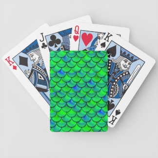 Baralhos Para Poker Escalas verdes do azul de Falln