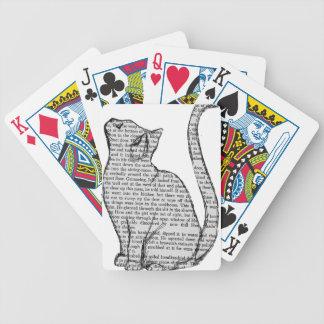 Baralhos Para Poker etiqueta do livro de leitura do gato
