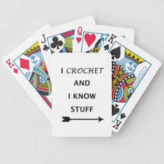 Baralhos Para Poker Eu Crochet e eu sei o material