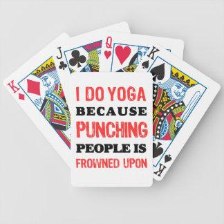Baralhos Para Poker Eu faço a ioga porque perfurar pessoas é olhada de