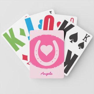 Baralhos Para Poker ferradura e coração cor-de-rosa