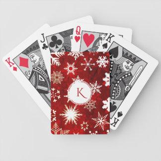 Baralhos Para Poker Flocos de neve festivos do Natal