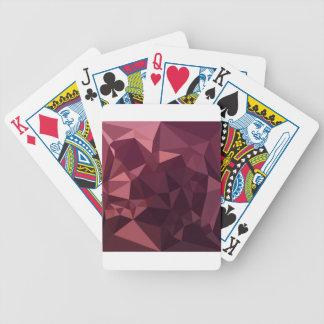 Baralhos Para Poker Fundo do polígono do abstrato escuro do vermelho