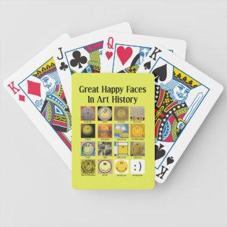 Baralhos Para Poker Grandes caras felizes na história de arte