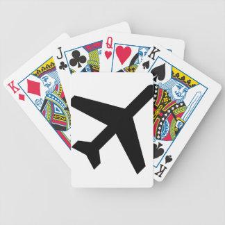 Baralhos Para Poker Ilustração de uma silhueta do avião
