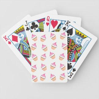 Baralhos Para Poker Impressão cor-de-rosa do cupcake
