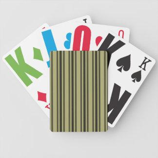 Baralhos Para Poker Listra dobro preta de tiquetaque do colchão Khaki