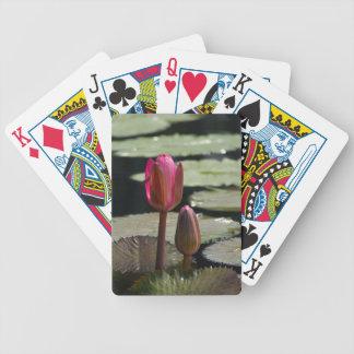 Baralhos Para Poker Lotus cor-de-rosa Waterlily e cartões de jogo das