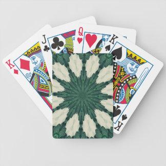 Baralhos Para Poker Mandala. da folha verde e de prata de Sacramento