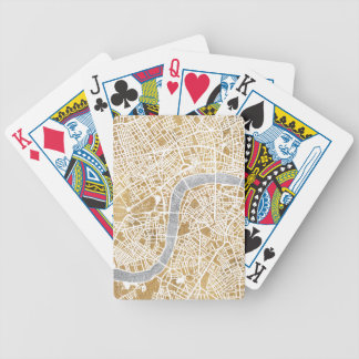 Baralhos Para Poker Mapa dourado da cidade de Londres
