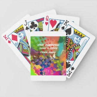 Baralhos Para Poker Mensagem da felicidade de Voltaire.